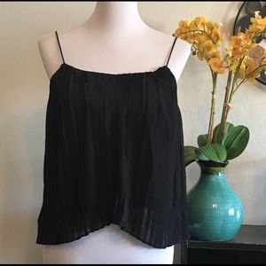 Abercrombie & Fitch pleated crop top XS